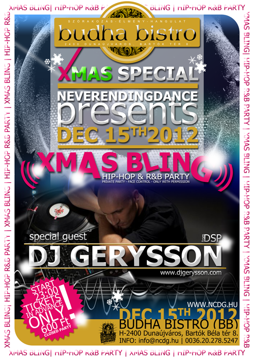 NCDG-XMAS-BLING Hip-Hop & R&B Party